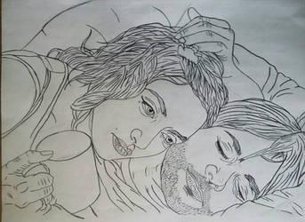 ESOTSM_Intimacy Sketch wip by MetalHeadvega