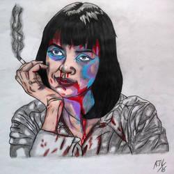 Beautiful Mess_Pulp Fiction by MetalHeadvega