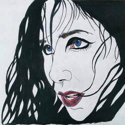 Chelsea Wolfe_Lone Portrait by MetalHeadvega