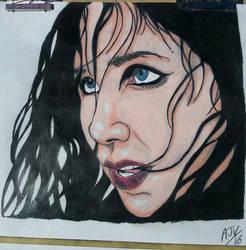 Chelsea Wolfe Lone Portrait  by MetalHeadvega