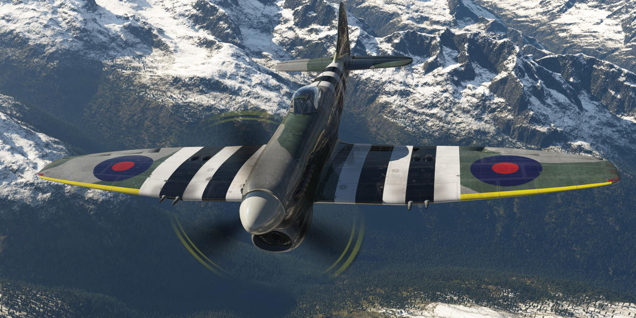 Hawker Tempest in the Air by SwissAdA