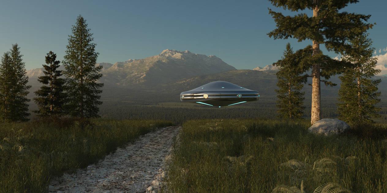Flying UFO, fly by SwissAdA