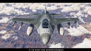 F-16 over Grand Canyon