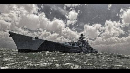 Bismarck class by SwissAdA