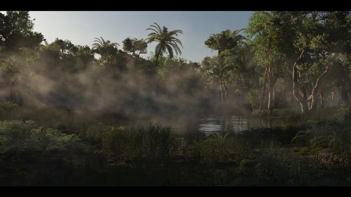 jungle lake by SwissAdA