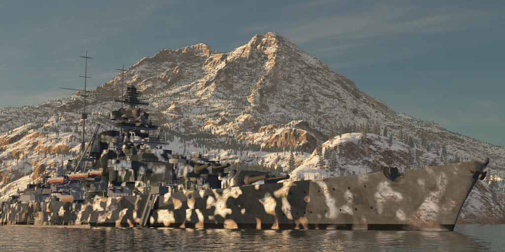 Tirpitz with Stealth :) by SwissAdA