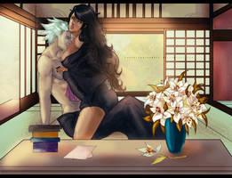 Sayuri and Hitsugaya by CarrotCakeBandit