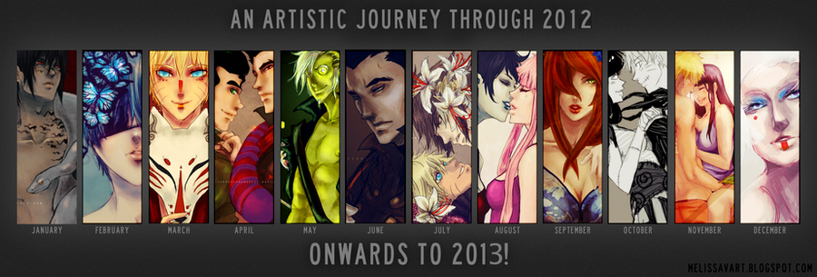 2012 Year in Art by CarrotCakeBandit