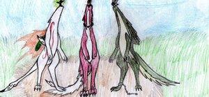 wolf trio by cyrilcynder by oki-okamiclub