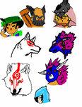 Okami Character heads by oki-okamiclub