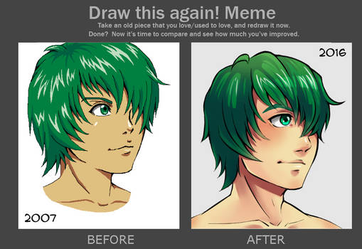 Meme: Before And After - Green