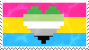 Aromantic Pansexual Stamp by AccursedRainbow