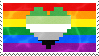 Aromantic Homosexual Stamp by AccursedRainbow