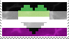 Aromantic Asexual Stamp by AccursedRainbow