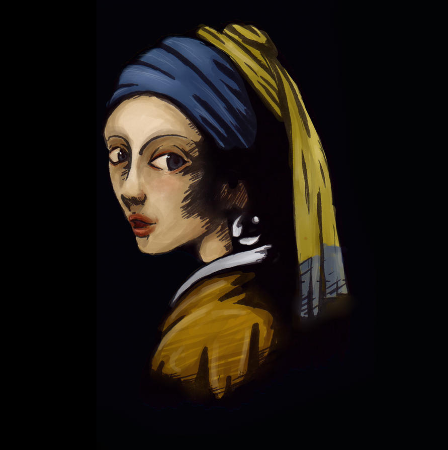 Remake:girl With Pearl Earring By Mix09