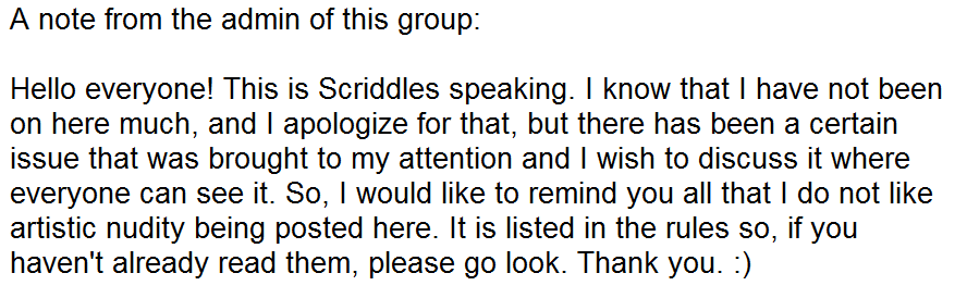Note from Project--Positivity's Admin by Scriddles