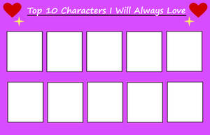 Top 10 Characters I Will Always Love Meme [Blank]