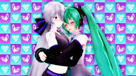 Haku and Miku by luvanddeathinall