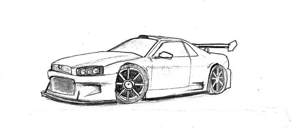 Image Gallery Of Nissan Skyline Coloring Pages