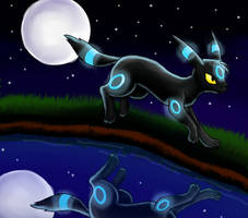 Shiny Umbreon by Sherushi