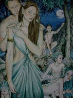 Titania and Oberon and a Midsummer Nights Dream by TGB-illustrations