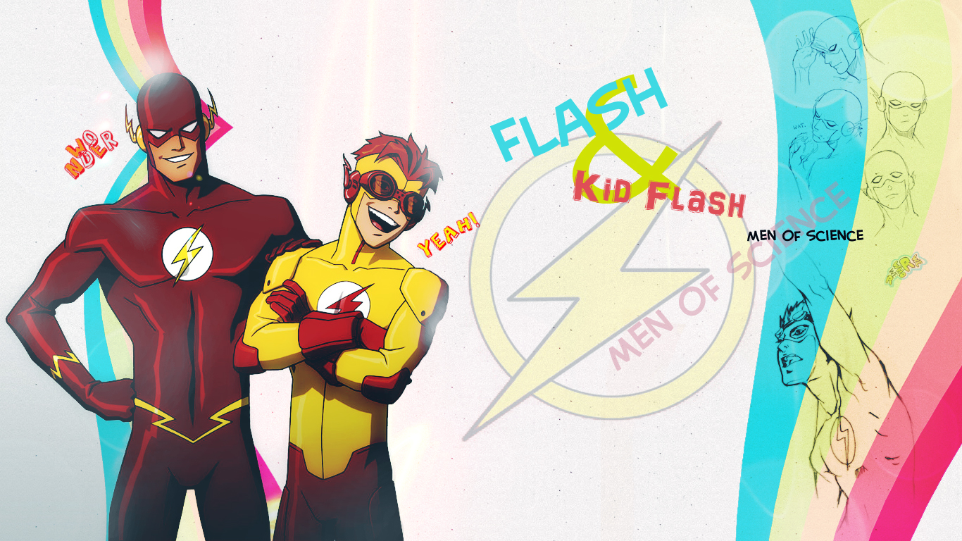 Flash and Kid Flash by Flight-of-DragonFly