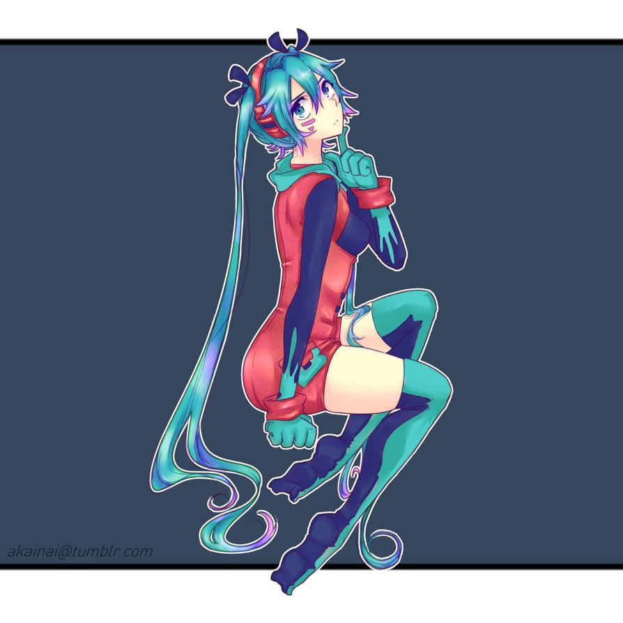 Miku outfit redesign by Akainai