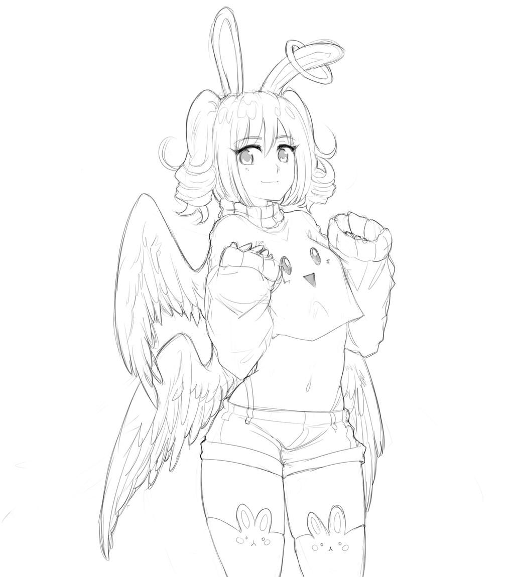 Elainea sketch by Akainai