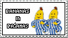 Bananas in Pajamas Stamp by oddly-addicted