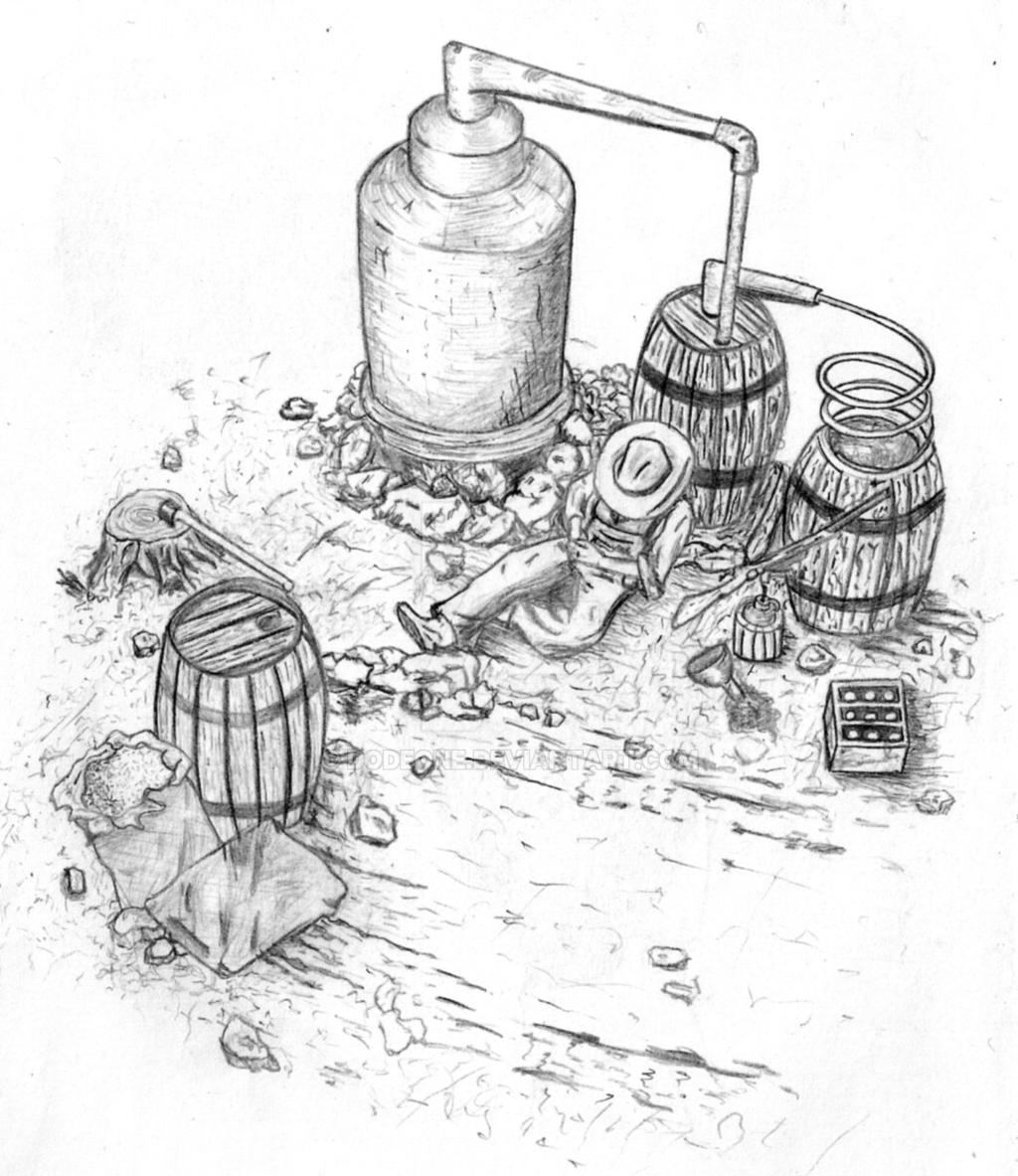 Moonshine still sketch by Dodeone