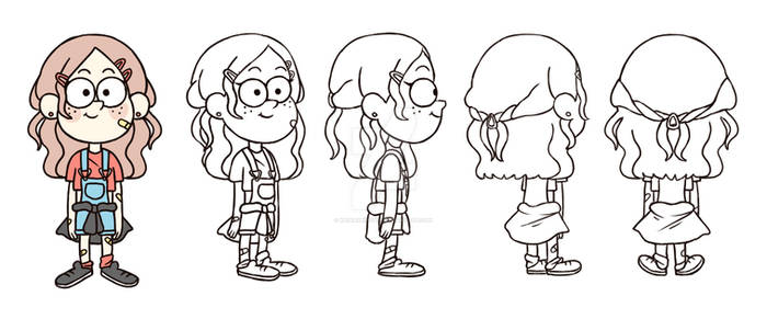 Gravity Falls Character Design Rotation