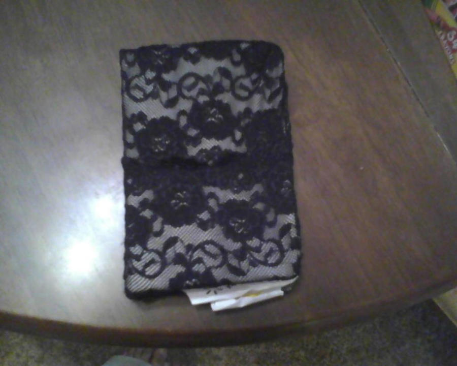 Book Cover Handmade ~ Handmade black lace book cover by sonicnugget on deviantart