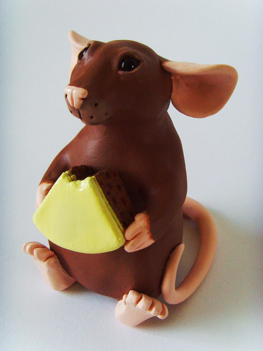 Rat with Cake Ornament by philosophyfox