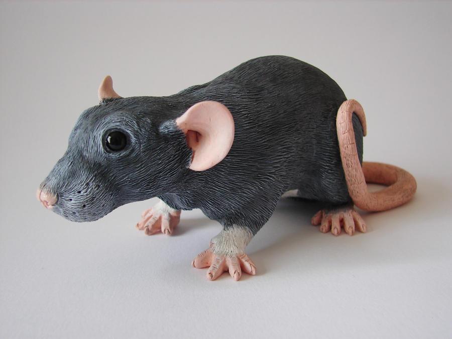 Dumbo Fancy Rat Sculpture Commission Complete by philosophyfox