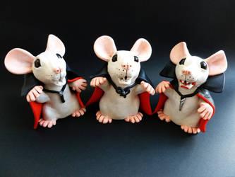 Vampire Rats by philosophyfox