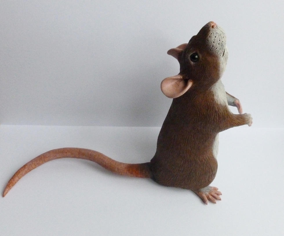 Agouti Rat Sculpt May 14 by philosophyfox