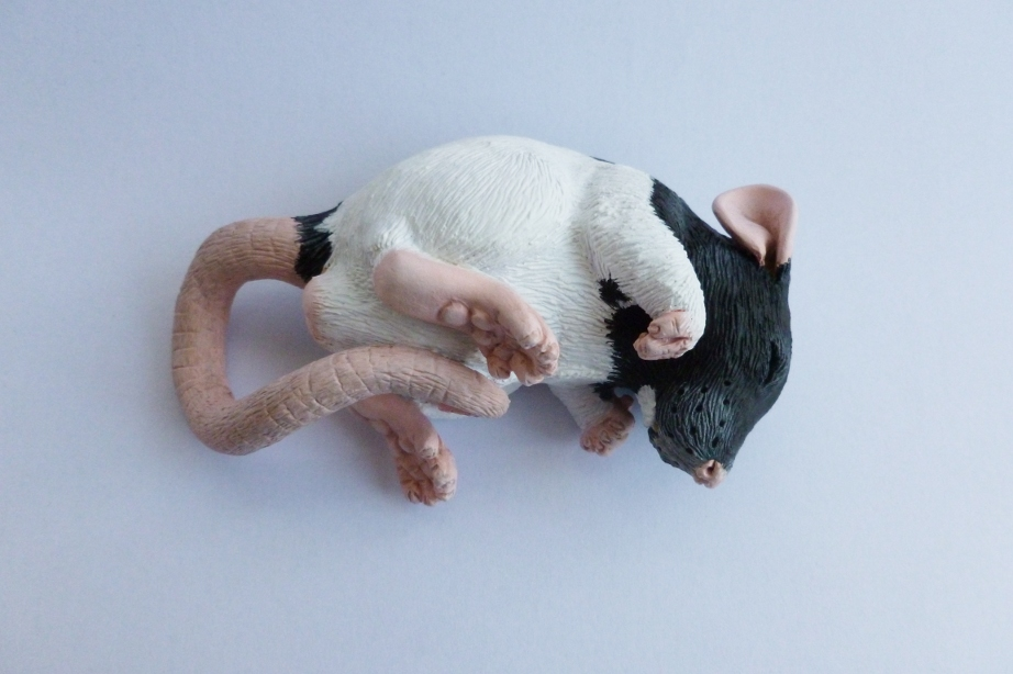 Typhon Small Rat Sculpture Commission by philosophyfox