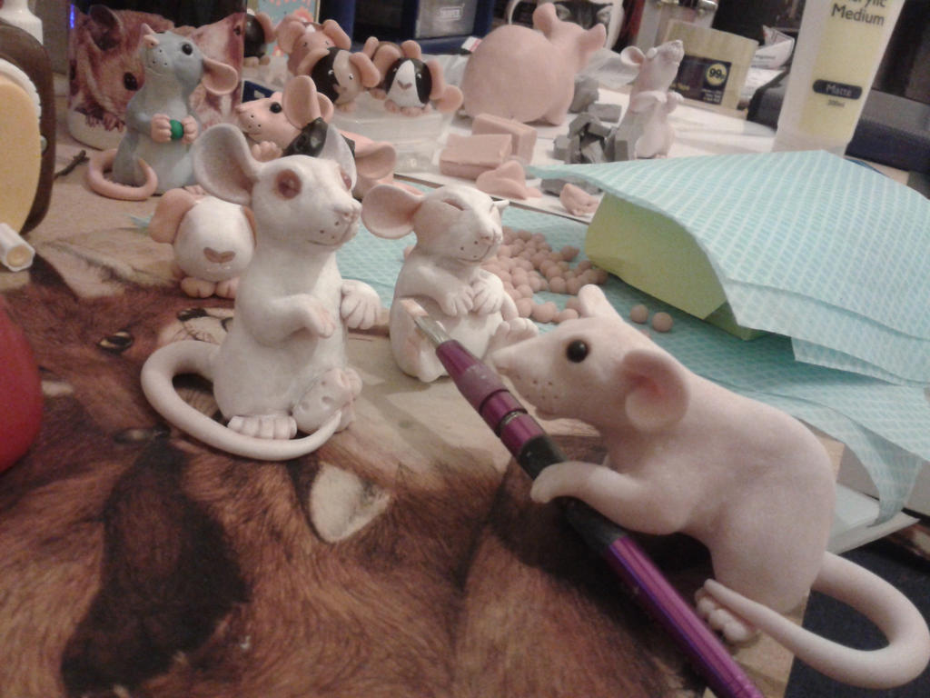 Mini Rats WIP by philosophyfox