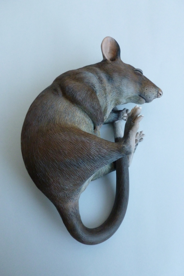 Gambian Pouched Rat Sculpture alt angle by philosophyfox