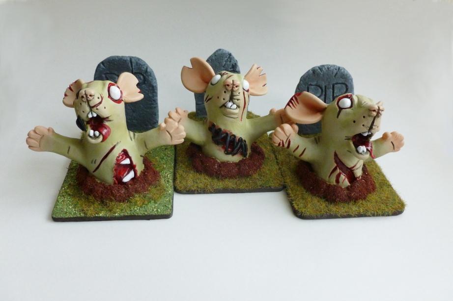 Graveyard Zombie Rats by philosophyfox