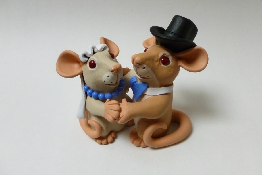 Summer Mini Rat Wedding Topper by philosophyfox
