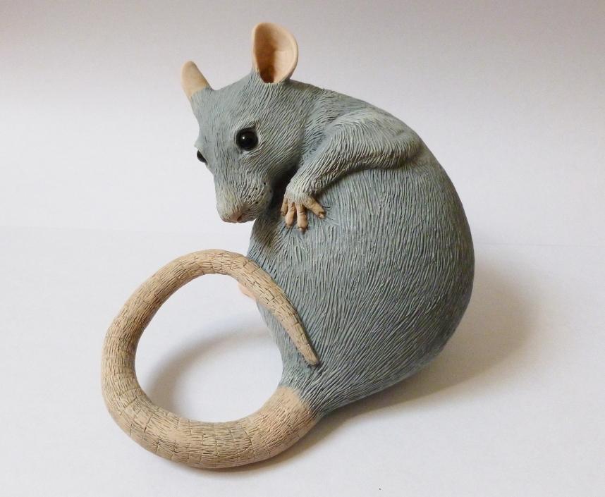 Washing Rat Sculpture Alt Angle by philosophyfox