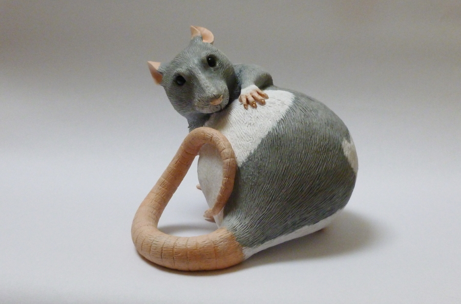 Hooded Pet Rat Sculpture by philosophyfox