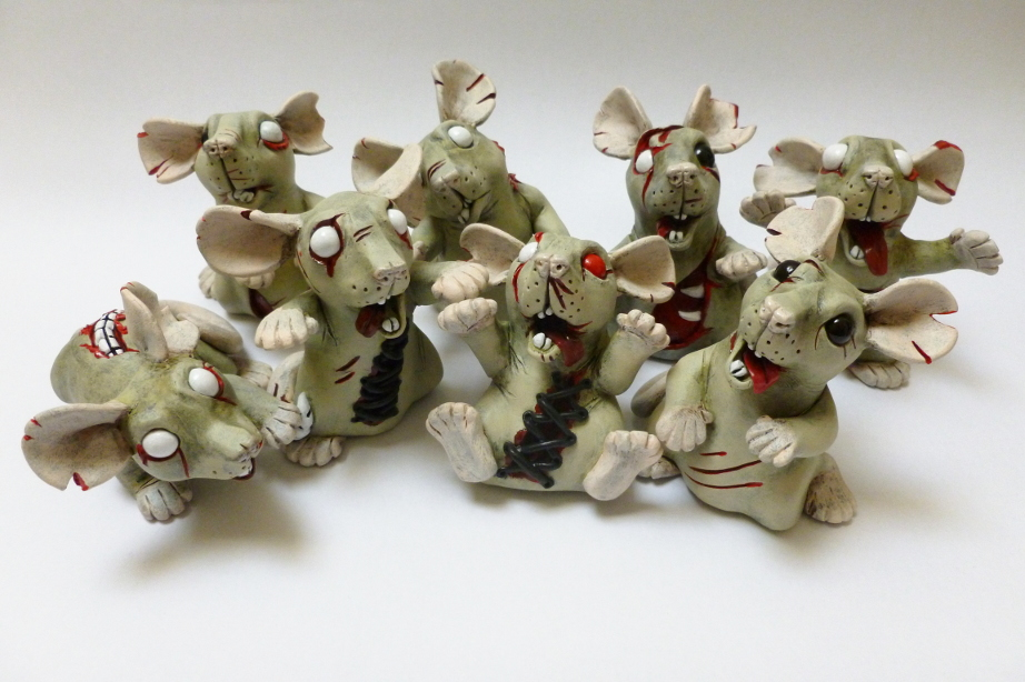 Zombie Rats May 2016 batch by philosophyfox