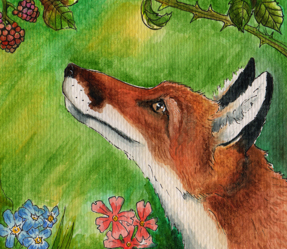 Watercolour Fox Doodle by philosophyfox