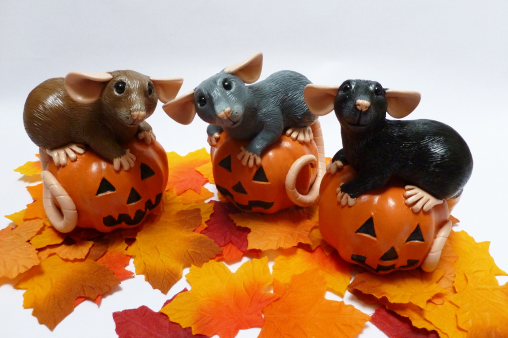 More Pumpkin Rats! by philosophyfox