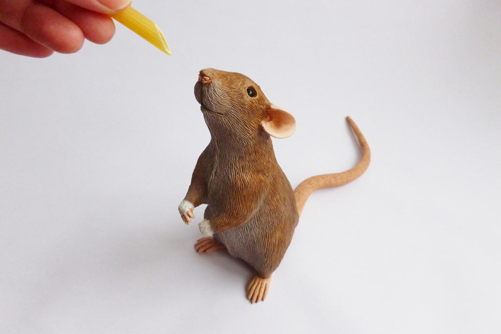 Rat Sculpture Commission Dumbo Agouti Rat by philosophyfox