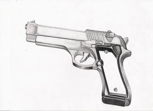 gun drawing by tchavez on DeviantArt