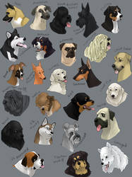 dog icons - WORKING GROUP