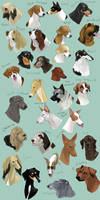 dog icons - HOUND GROUP by swift-whippet